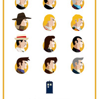 """Doctor Who — A Visual Recap"" by Salvador Anguiano"