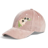 BP. Embroidered Velvet Baseball Cap | Nordstrom