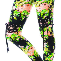 24HRS Floral Lace Thigh High Insert Leggings