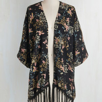 Boho Mid-length Short Sleeves Touch of Tranquil Jacket