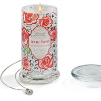 "Secret Jewels Scented Candle ""True Love"" Red Rose Scent"