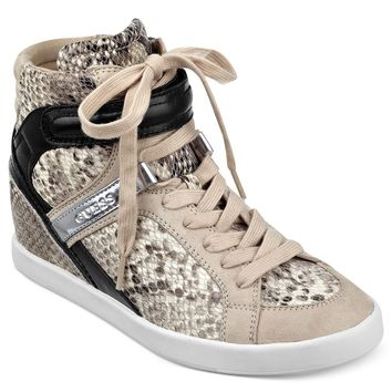 GUESS Women's Shoes, Perina HiTop Sneakers - GUESS - Shoes - Macy's
