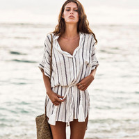 Castaway dress in St. Barths stripe