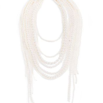 Waterfall Pearl Statement Necklace