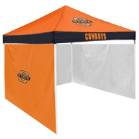 Oklahoma State Cowboys NCAA 9' x 9' Economy 2 Logo Pop-Up Canopy Tailgate Tent With Side Wall