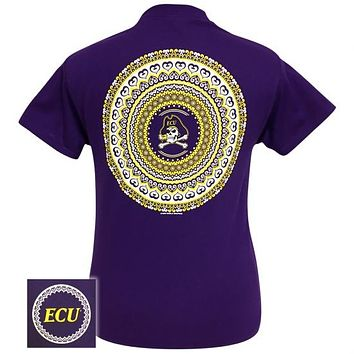 ECU East Carolina Preppy Mandala T-Shirt
