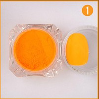 2g/Box Neon Phosphor Nail Powder Colorful Nail Pigment Powder New Arrival Nail Art Decorations Manicure Set