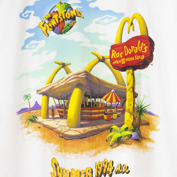 90s FLINTSTONES McDonalds shirt - vintage 1994 - movie - adult L - XL