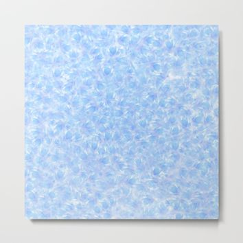 Texture Million blue flowers Metal Print by Alexandr-Az