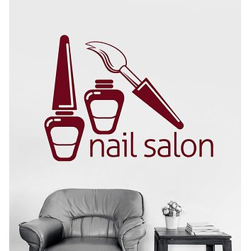 Vinyl Wall Decal Nail Salon Polish Beauty Woman Girl Stickers Mural Unique Gift (ig3600)