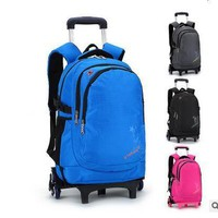 Students Trolley bag On wheels Rolling Backpacks For School Children's Boy's Girl's Trolley Suitcase Kids Travel luggage Bags