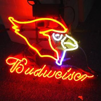 Business NEON SIGN board For  ARIZONA CARDINALS FOOTBALL Basketball Real GLASS Tube BEER BAR PUB Club Shop Light Signs 17*14""