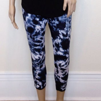 Yoga Pants Tie Dye Capri Leggings