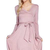 Sasha Mauve Wrap Dress