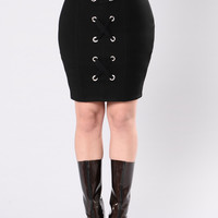 Found This Love Skirt - Black