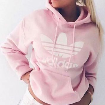 Adidas Womens Fashion Hoodies Top Sweater Pullover Sweatshirt