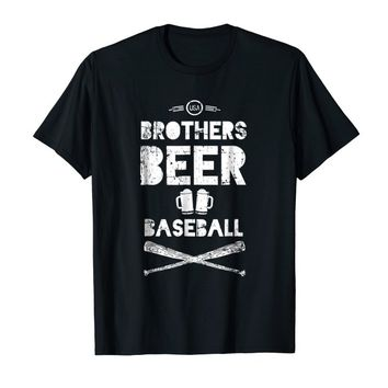 Mens Brothers, Beer, and Baseball T-Shirt Gift