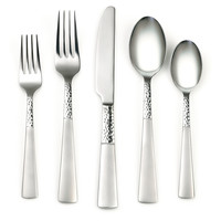 20-Pc Rosa Sand Stainless Steel Set, Flatware Place Settings
