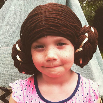 Princess Leia Wig, Leia Costume, Star Wars Costume, Leia Cosplay, Star Wars Cosplay, Princess Leia Hair, Leia Buns