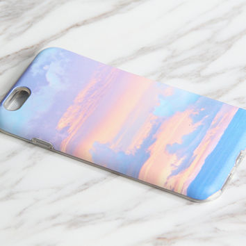 Sunset Pastel Cloudy Sea Landscape iPhone 6S Case iPhone 6 Case iPhone 6 Plus Case iPhone 6s Plus Case iPhone 5 Case SE iPhone 5C Case KB936