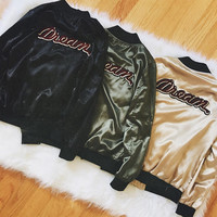 Dream Patch Satin Jacket (Black)