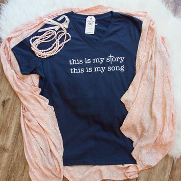 This is My Story, This is My Song Relaxed Ladies Vneck