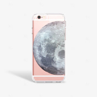 iPhone 6s Case Transparent iPhone 6S Plus Case Moon iPhone Moon iPhone Case Samsung Galaxy Note 5 Space iPhone Case Minimal iPhone Cases