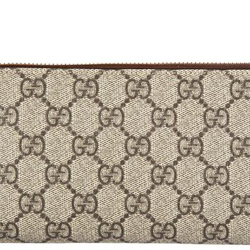 One-nice™ GUCCI WOMEN'S WALLET COIN CASE HOLDER PURSE CARD BIFOLD NEW GG SUPREME BEIGE 7EF