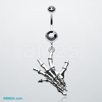 Hand of Death Belly Button Ring
