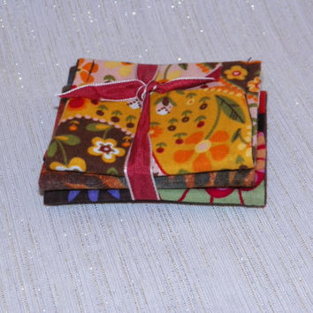 Autumn Glow Trio of Teeny Pockets Jewelry Pouches Gift Set of Three