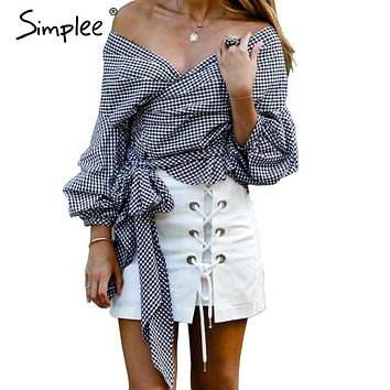 Sexy Ruffled Off Shoulder Blouse