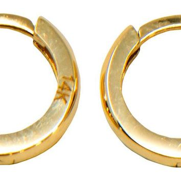 14k Gold Classic Tiny Huggie Hoop Earrings (2.2mm Thick), 11.2mm