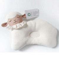 Hot Sale Cute Lamb Style Baby Pillow Infant Newborn Sleep Positioner Prevent Flat Head Shape Support High Quality Cotton