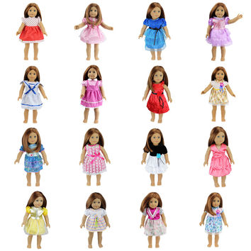 15 Colors American Girl Doll Dress 18 Inch Doll Clothes And Accessories
