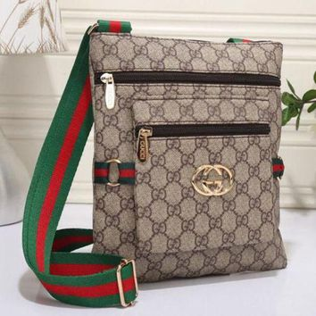 Gucci New Fashion Women Leather Zipper Shopping Crossbody Shoulder Bag Satchel