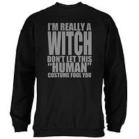 Halloween Human Witch Costume Mens Sweatshirt