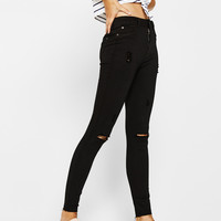 Ripped high waist pants - Jeans - Bershka United States