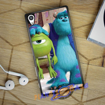 Monsters Inc sulley holding mike Sony Xperia Z5 case Planetscase.com