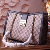 GUCCI WOMEN HAS LEATHER CHAIN SHOULDER BAG