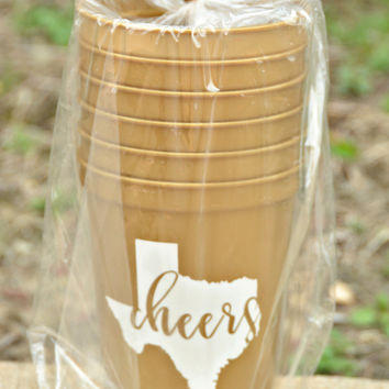 Texas Cheers Stadium Cup Set