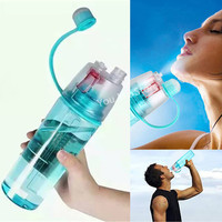 New Dual-Use Face Mist and Fitness Water Bottle; 0.6L/0.4L