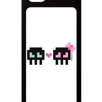 8-Bit Skull Love - Boy and Girl iPhone 5 / 5S Grip Case  by TooLoud