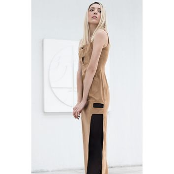 Suede maxi dress - Bastet Noir