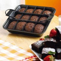 Slice Solutions Pre-Sliced Brownie Pan By Collections Etc