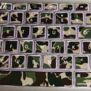 Camouflage-Macbook decal Macbook sticker Macbook Keyboard Decal Macbook Pro Keyboard Skin Macbook Air Sticker vinyl sticker