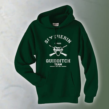 CHASER Slytherin Quidditch team Green Pullover Hoodie S-3XL
