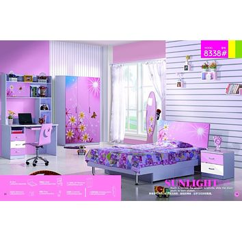 Kids Room Furniture Set Contemporary Design - Pink Theme