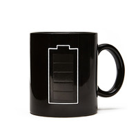FOREVER 21 Battery Graphic Coffee Mug Black One