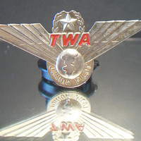 Vintage TWA Junior Pilot Wings Pin Airlines Uniform Accessories Retro Korea