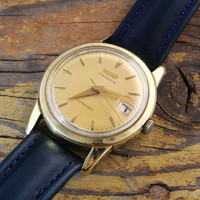 Vintage Tissot gold filled stainless steel automatic Tissot mens watch swiss watch original marked crown
